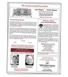 Eastmoreland Real Estate Newsletter